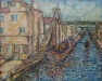 untitled-boat-in-canal-oil-Collection of Judy and Martin Tobey-jpg