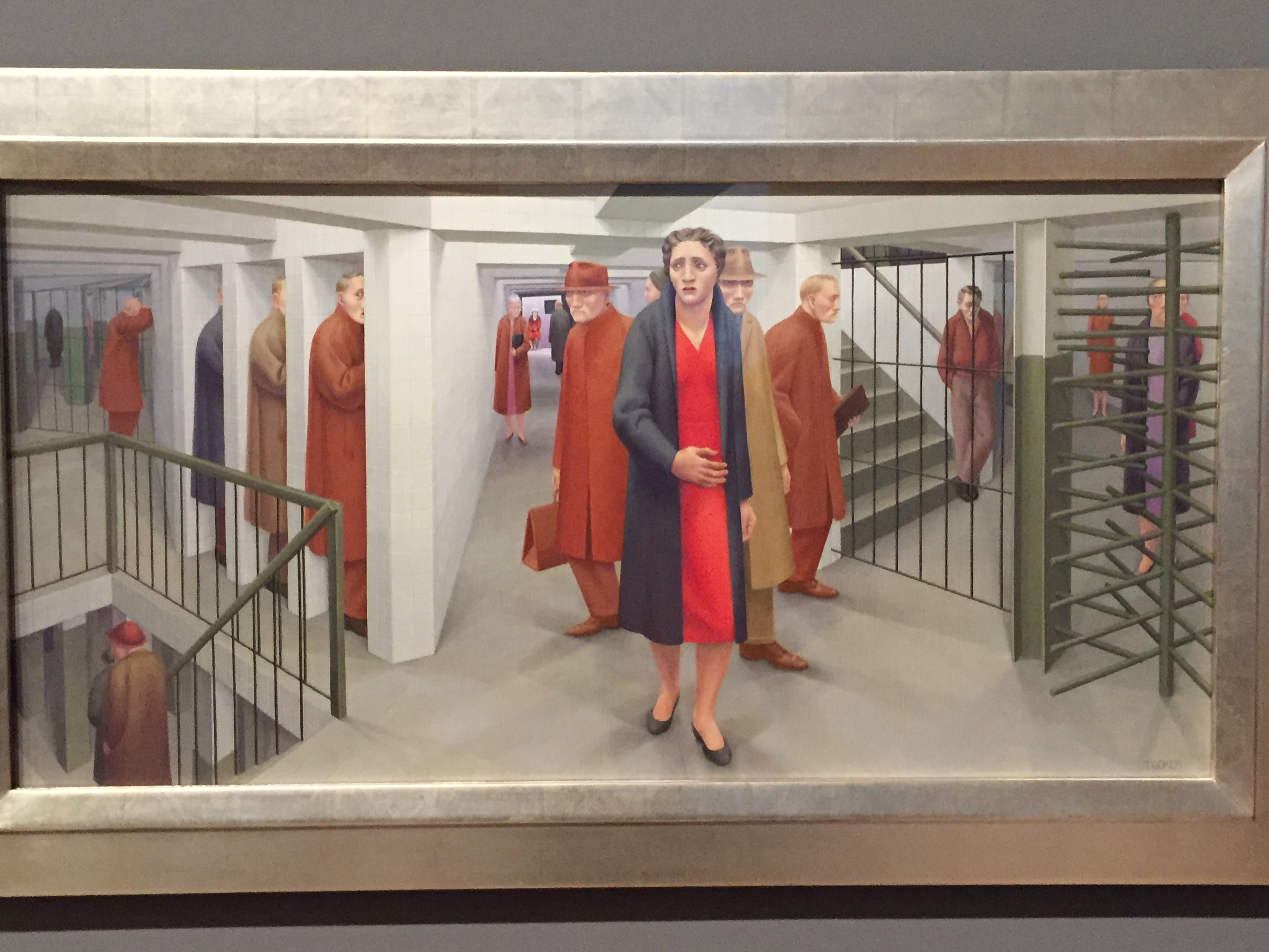 the subway by george tooker George tooker was an american artist known for his social realist tempera paintings of mid-century new york many of tooker's works, such as the subway (1950), focused on urban loneliness.