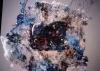 "Textures both coarse & goassamer the weaver siad, handmade paper, pastel, 26""x30"""