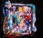 A Tiffany Garden, mono print collage,